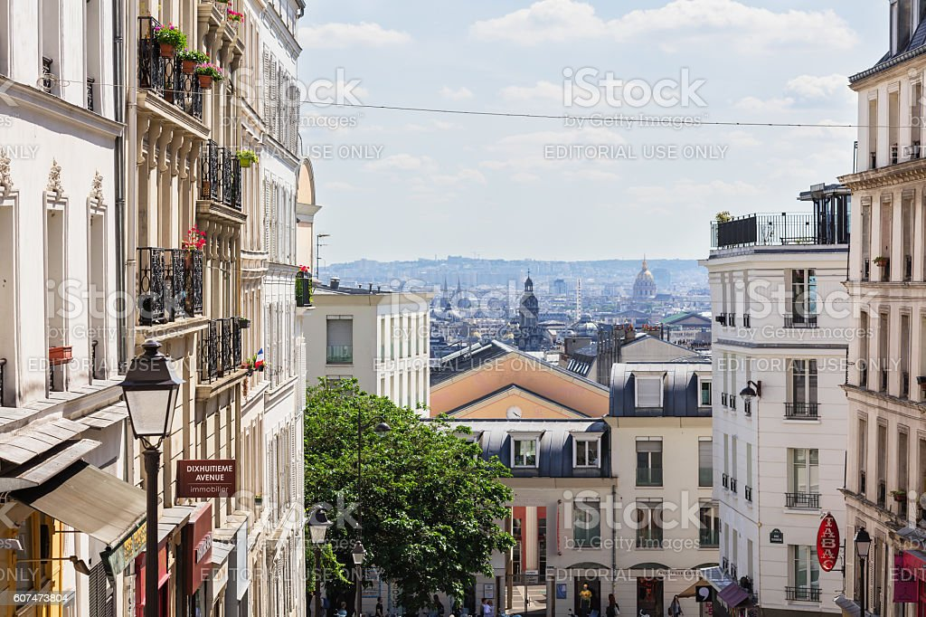 Beautiful Paris cityscape seen from Montmartre hill, Paris, France royalty-free stock photo