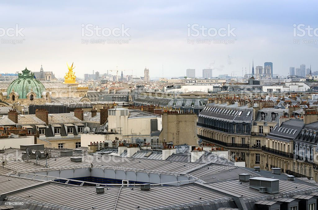 Beautiful Parisian skyline stock photo