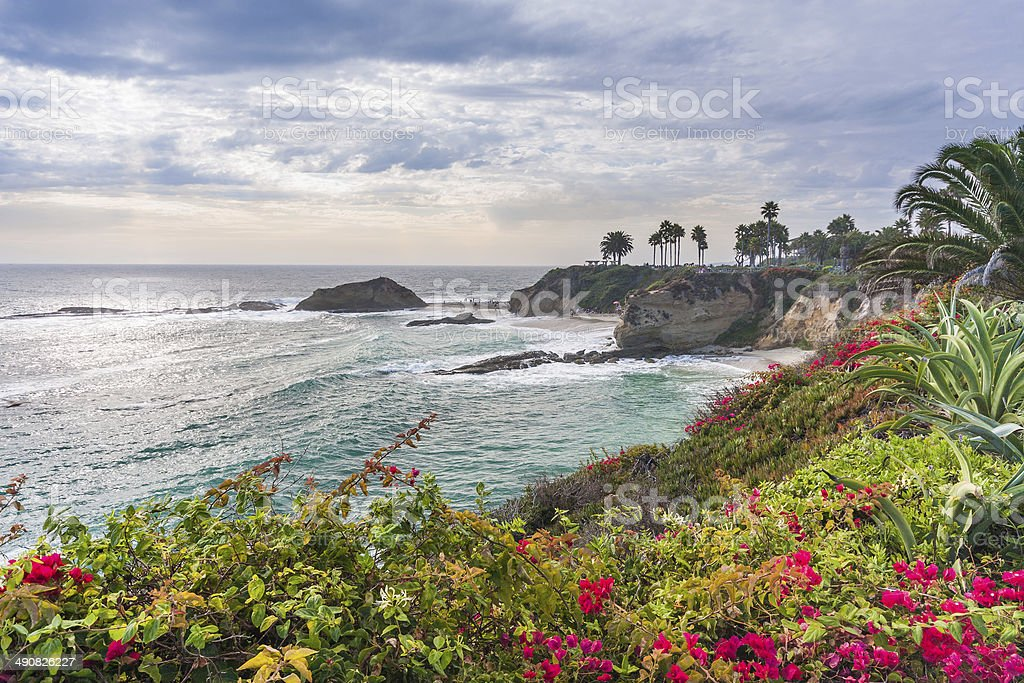 Beautiful park at Laguna Beach stock photo