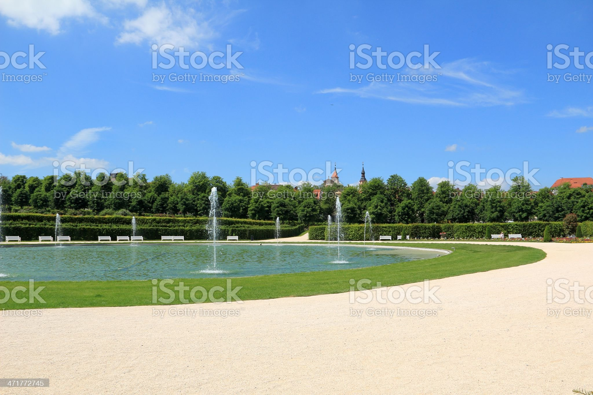 Beautiful park in Germany royalty-free stock photo