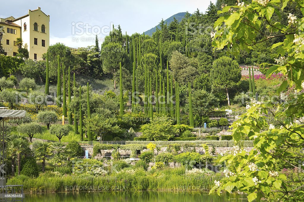Beautiful Park in Meran, South Tyrol royalty-free stock photo