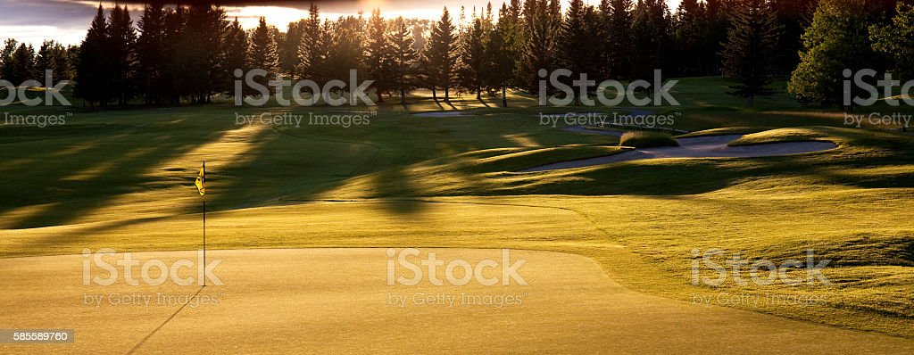 Beautiful Parkland Golf Course stock photo