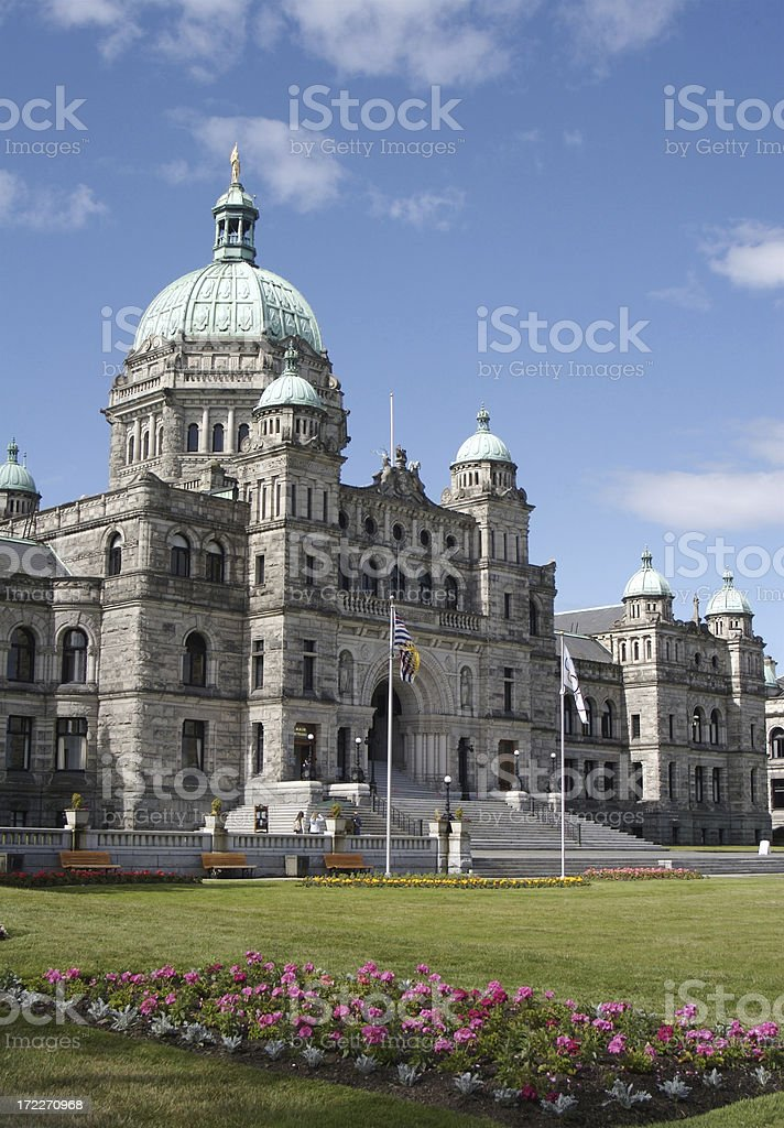 Beautiful Parliament Building in Victoria, Canada royalty-free stock photo