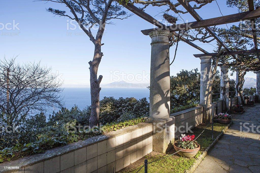 Beautiful Patio Villa San Michele, Capri, Naples royalty-free stock photo