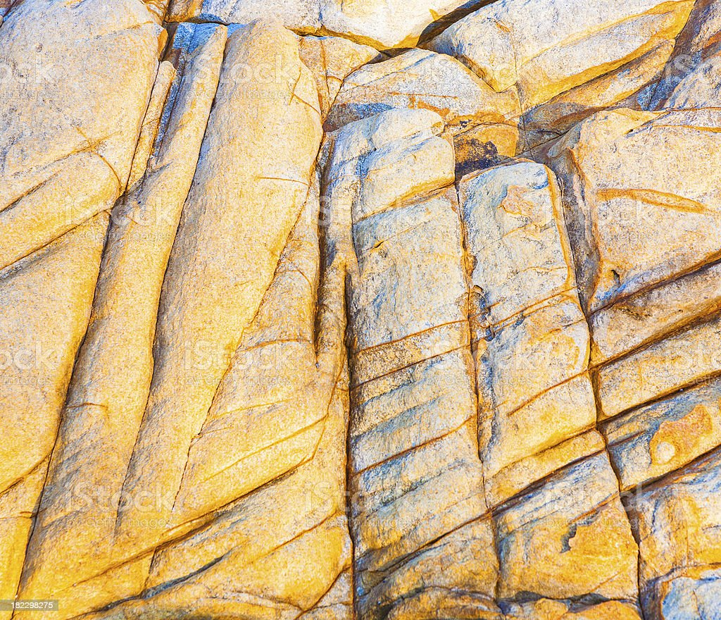 beautiful pattern in Stone at the coast royalty-free stock photo
