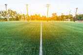 beautiful pattern of fresh green grass for football sport,