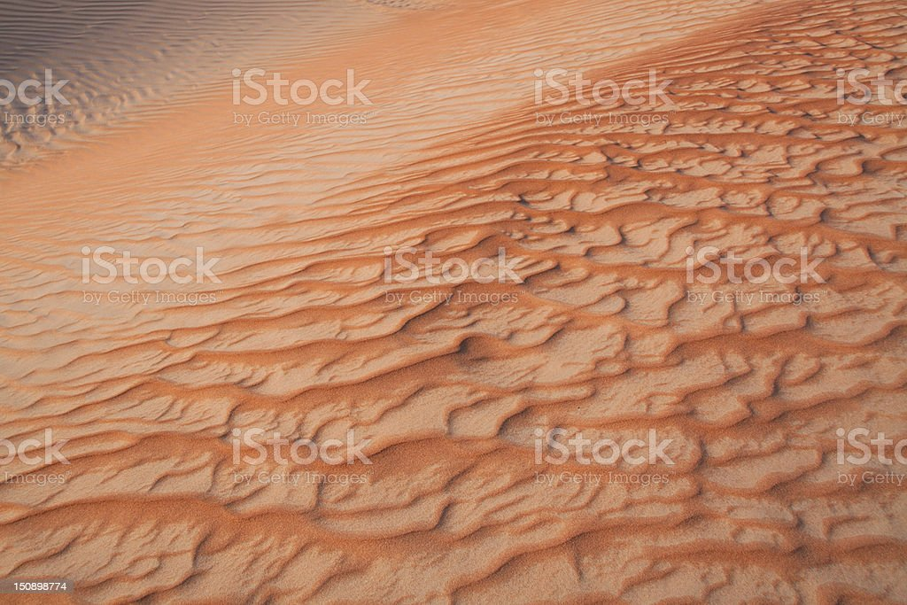 Beautiful Patterned Sands in the Dunes royalty-free stock photo