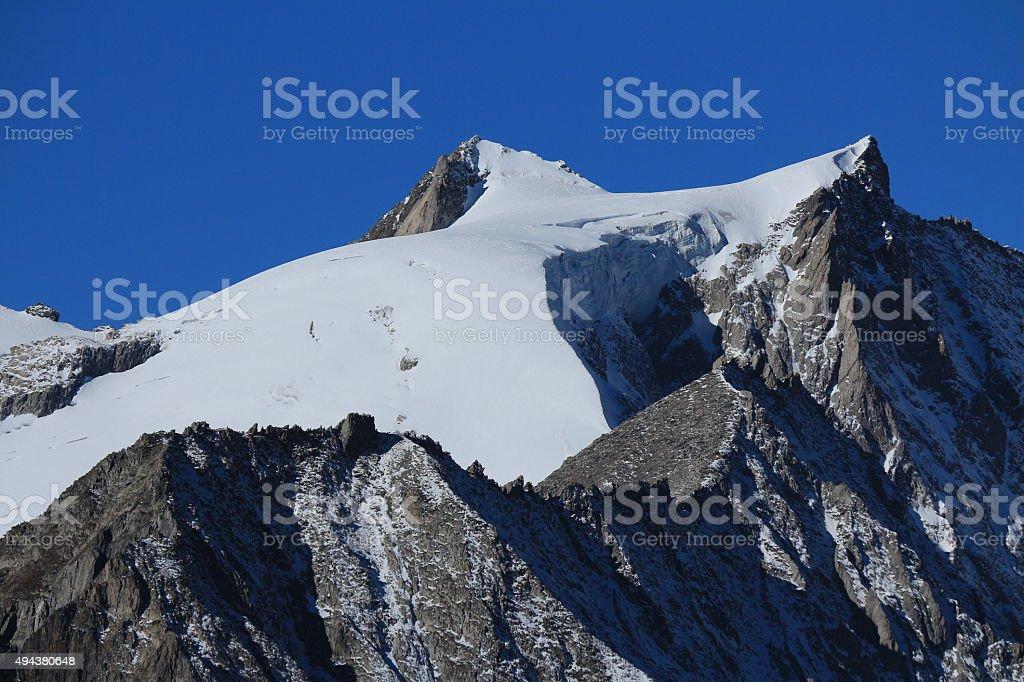 Beautiful peak of Mt Geisshorn stock photo