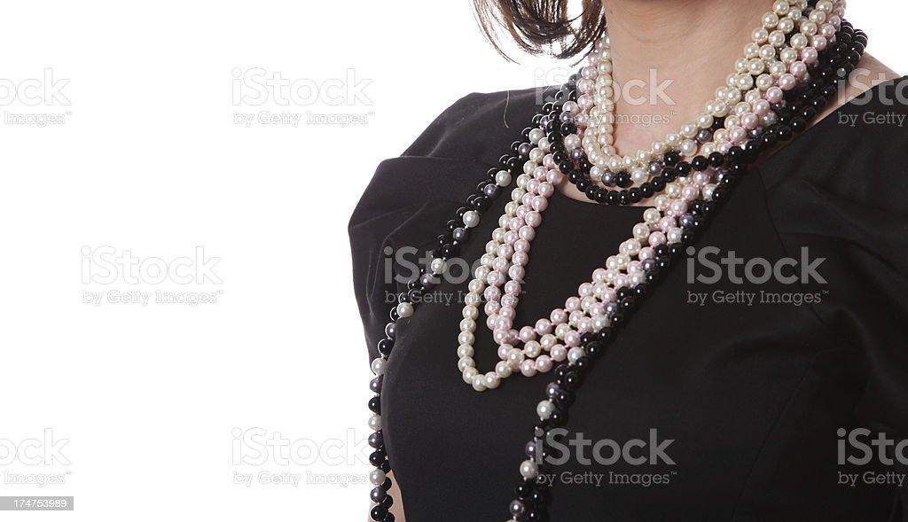 Beautiful pearls royalty-free stock photo