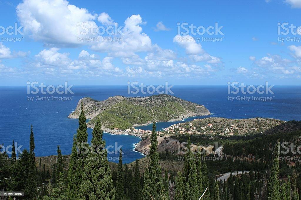 Beautiful peninsula stock photo
