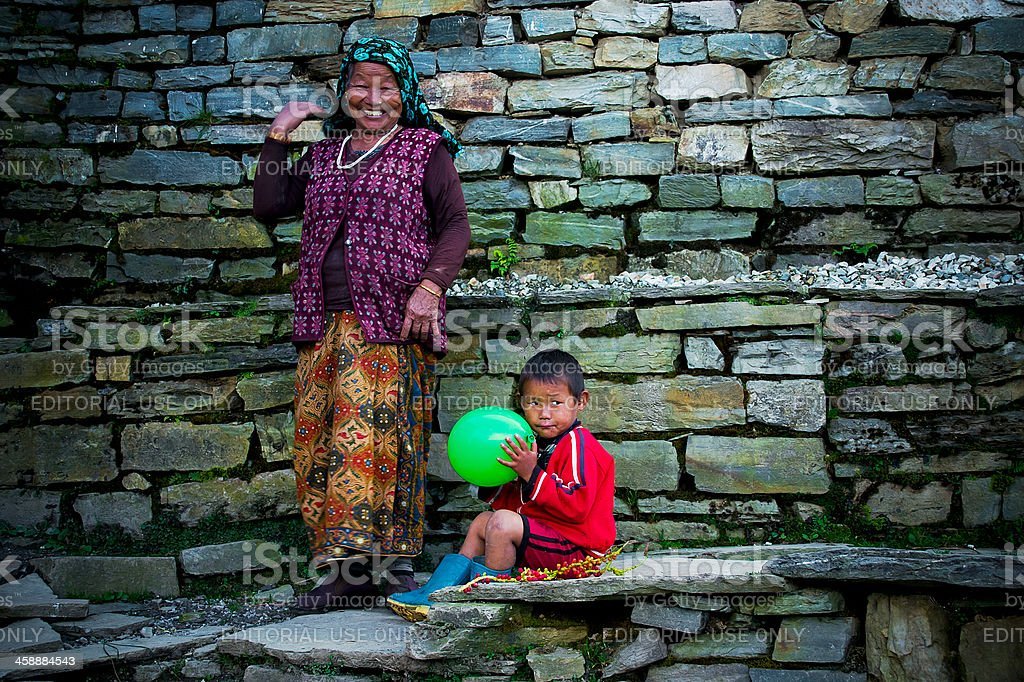 Beautiful people of Nepal stock photo