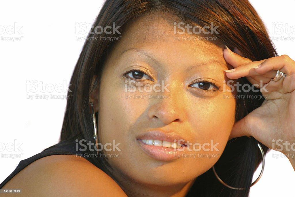 Beautiful philippine woman royalty-free stock photo