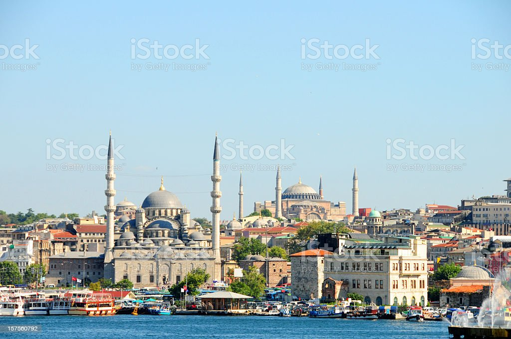 Beautiful photo of Istanbul City under a clear blue sky royalty-free stock photo