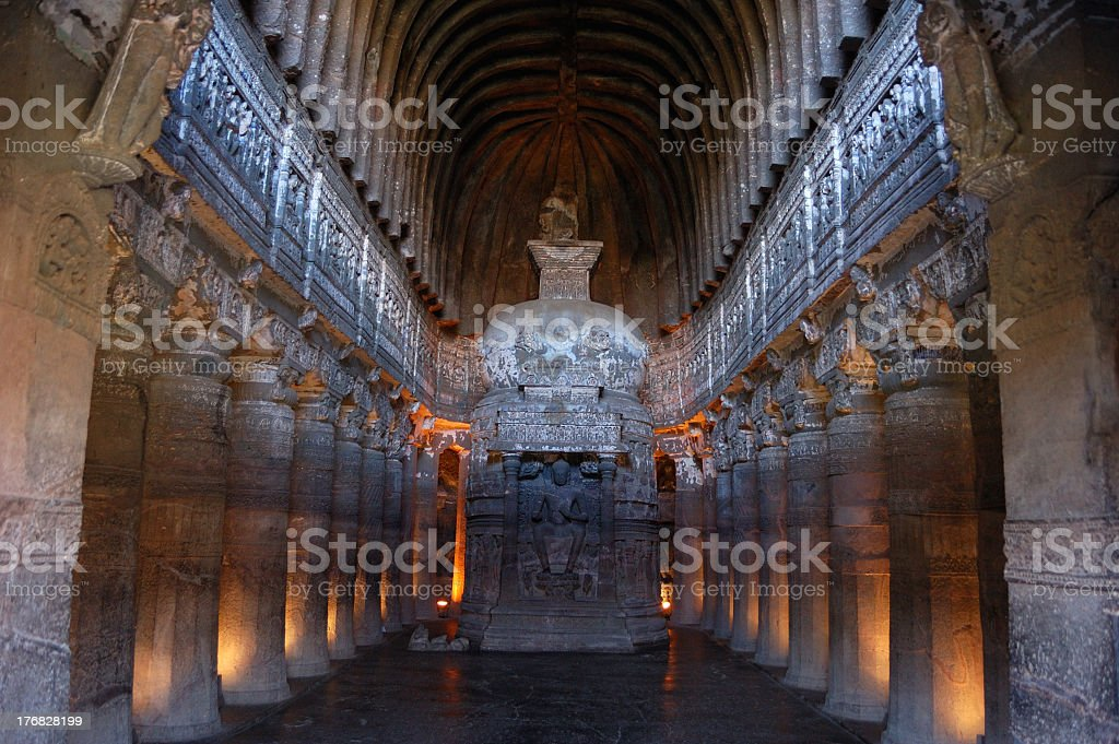 A beautiful photo of the Ajanta Caves stock photo