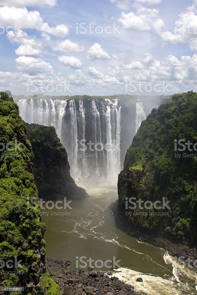 Beautiful photograph of Victoria Falls royalty-free stock photo
