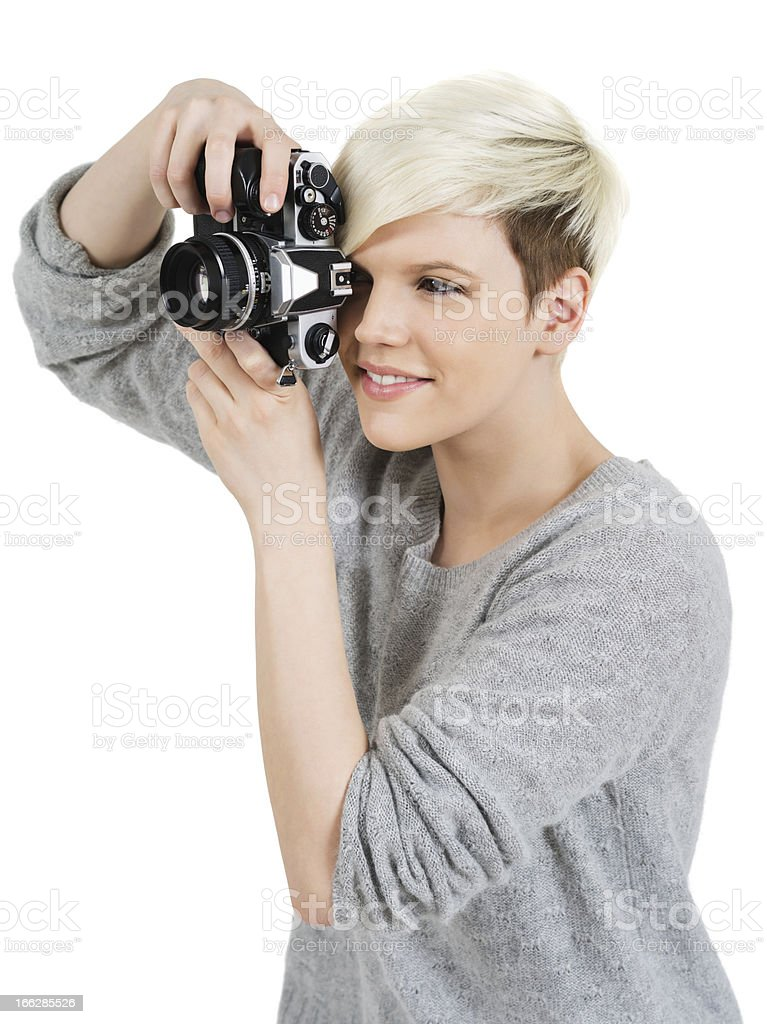Beautiful photographer royalty-free stock photo