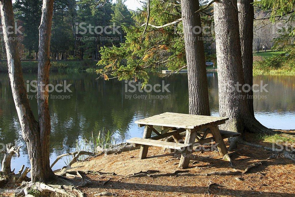 Beautiful Picnic Spot stock photo