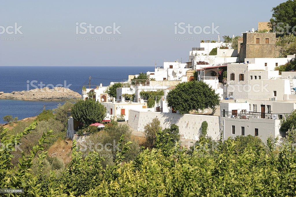 Lindos royalty-free stock photo
