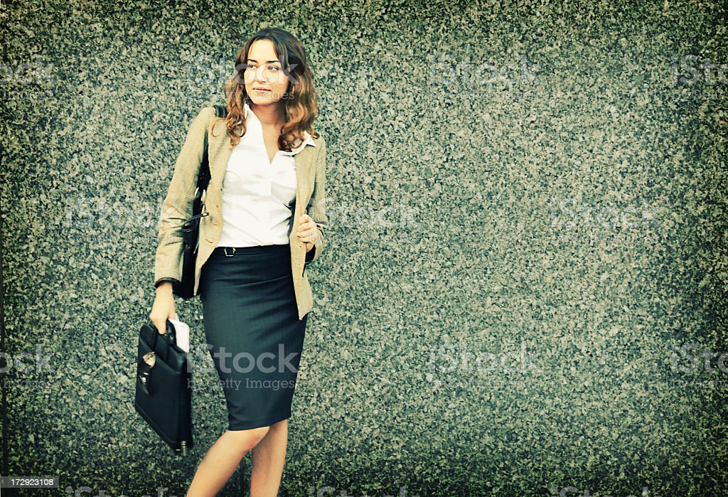 Beautiful picture of a pretty businesswoman royalty-free stock photo