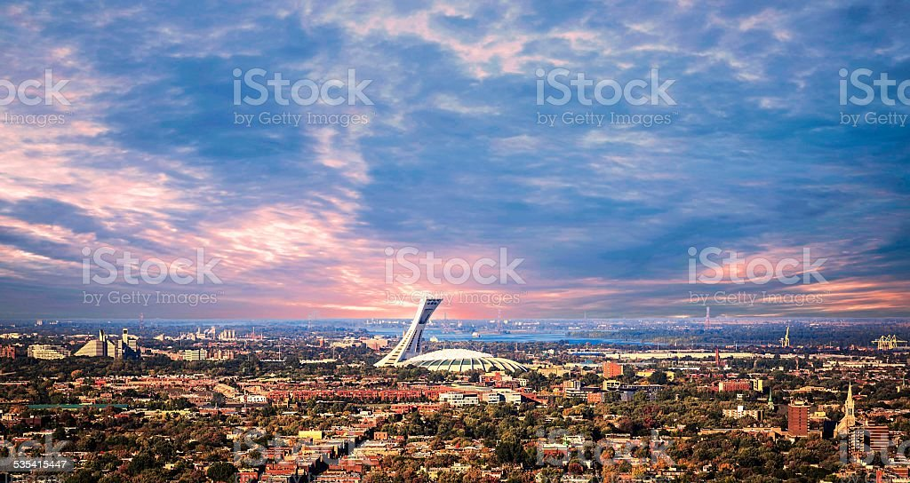 Beautiful picture of Montreal in sunset. stock photo