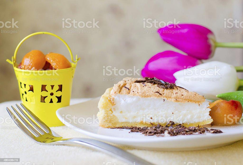 beautiful piece of cheesecake royalty-free stock photo