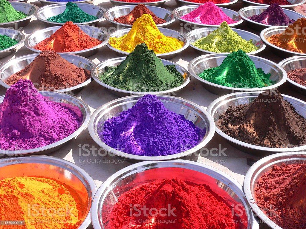 Beautiful pigment stock photo