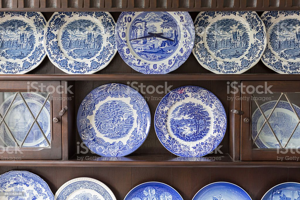 Beautiful plate collection stock photo