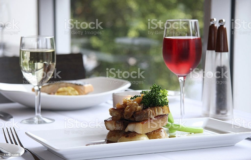 Beautiful Plated Meal stock photo
