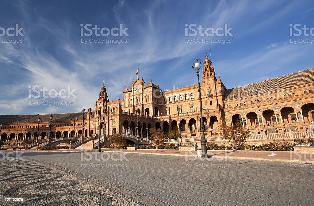 Beautiful Plaza de Espana in Sevilla royalty-free stock photo