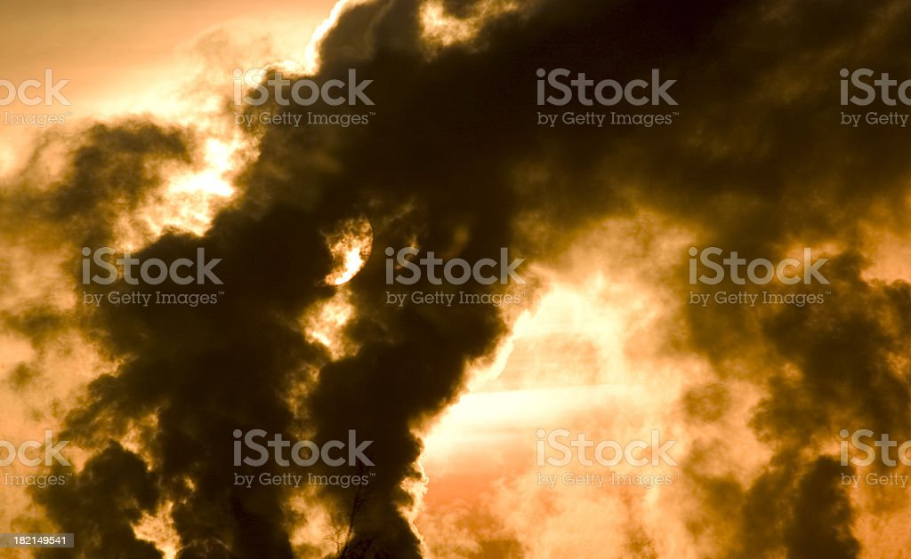 beautiful pollution royalty-free stock photo