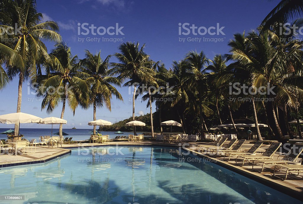 Beautiful Pool Resort stock photo
