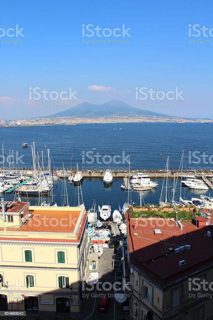 beautiful port in Napoli stock photo