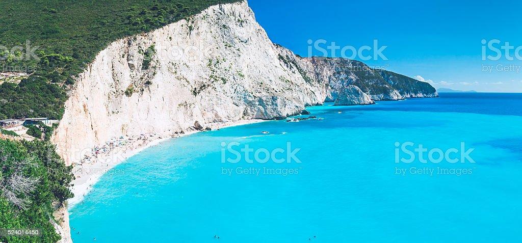 Beautiful Porto Katsiki beach, Lefkada, Greece stock photo