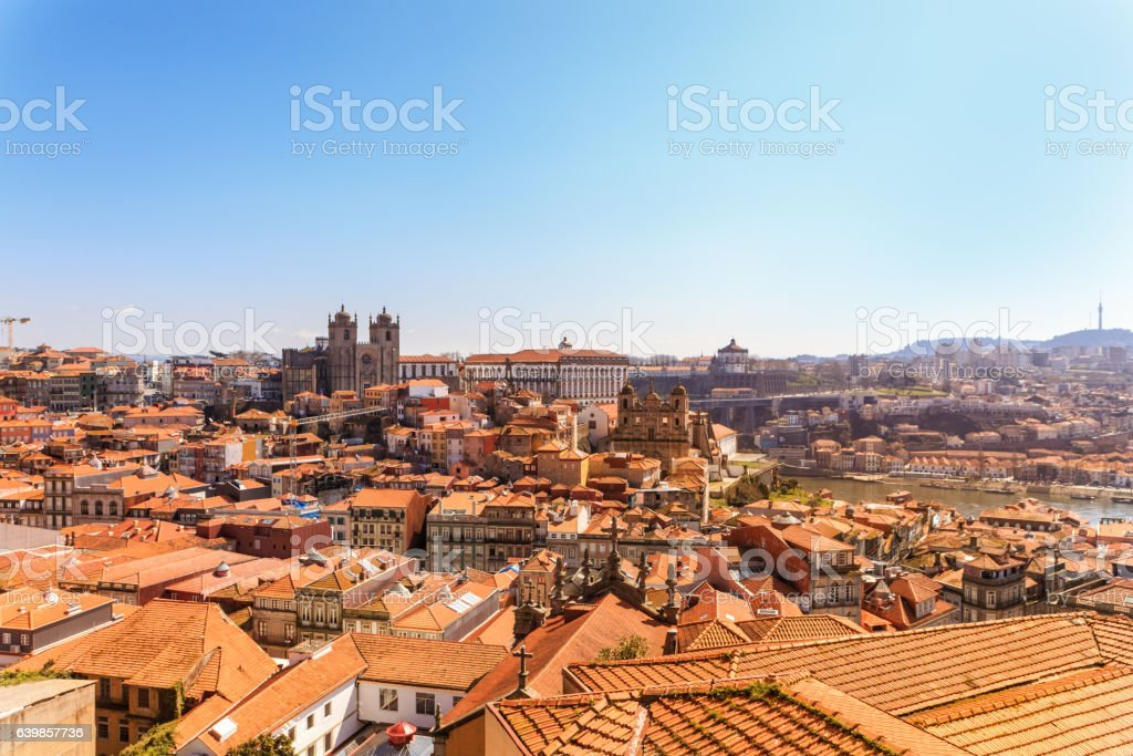 Beautiful Porto Skyline stock photo