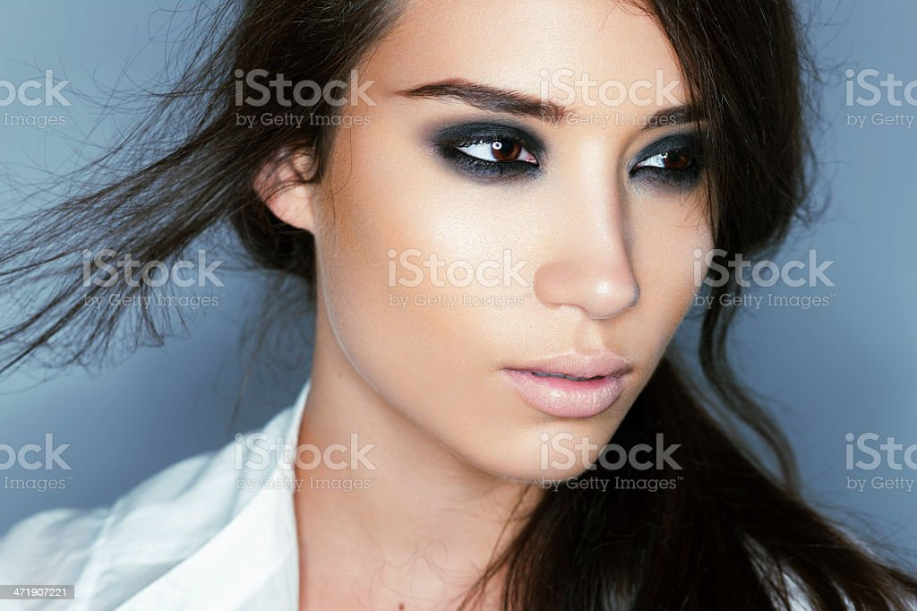 A beautiful portrait of a woman stock photo