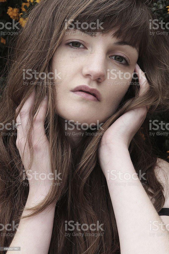Bellissimo Ritratto di una giovane donna foto stock royalty-free