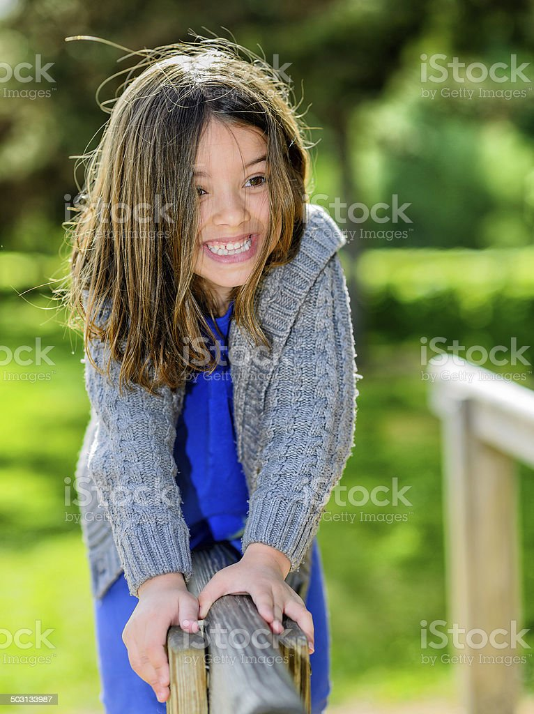beautiful portrait of cute child playing royalty-free stock photo