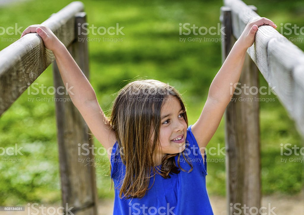 beautiful portrait of cute child playing royalty-free stock photo