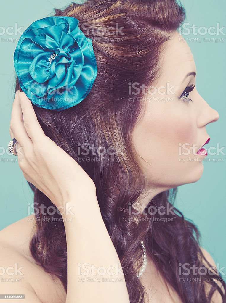 Beautiful Portrait of Woman stock photo