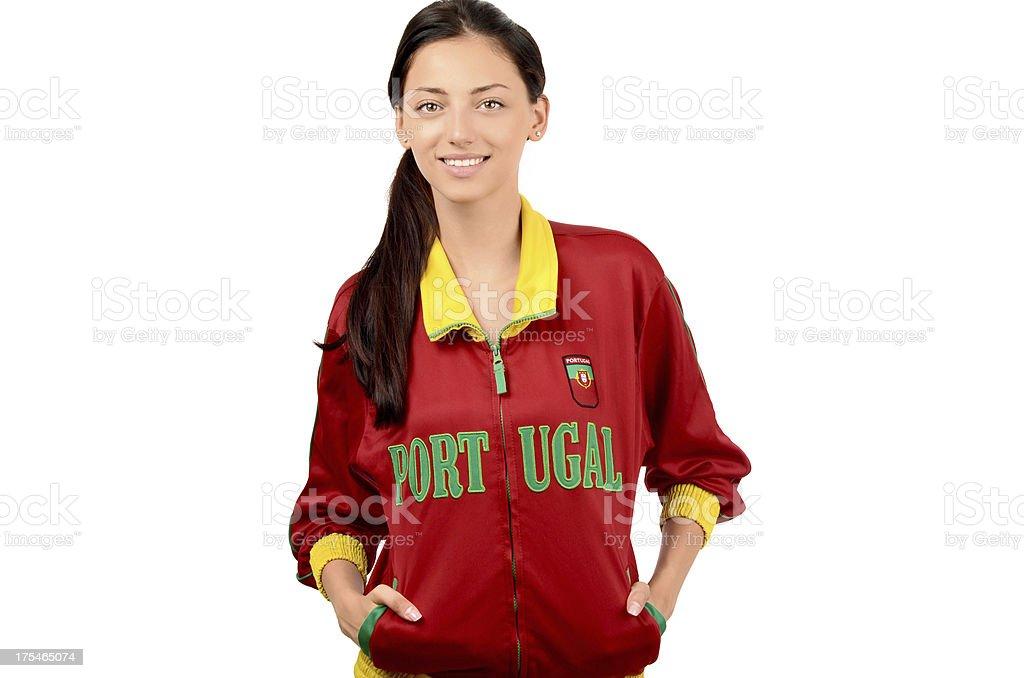 Beautiful Portuguese girl. royalty-free stock photo