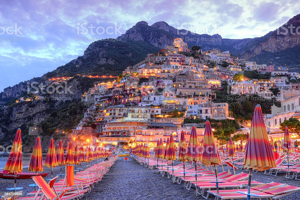 Beautiful Positano, Amalfi coast, Italy stock photo