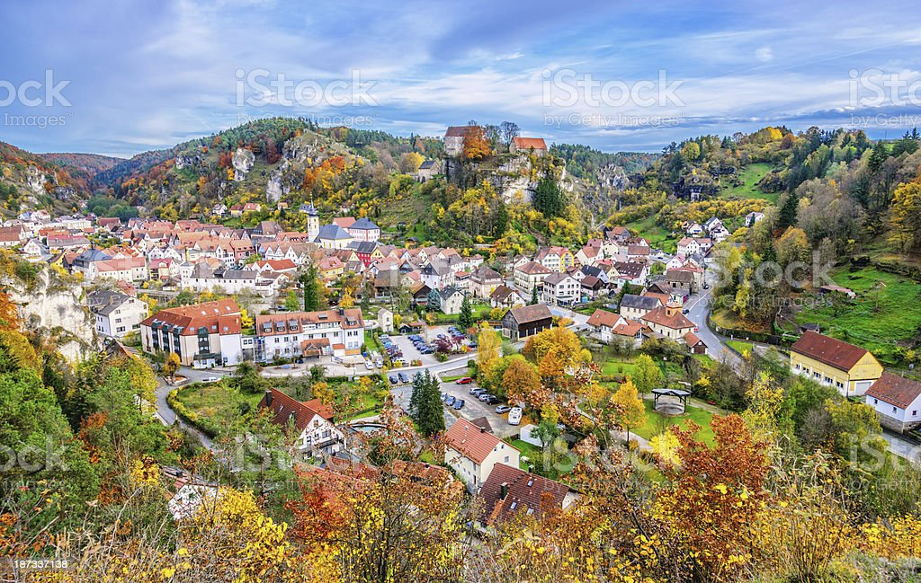 Beautiful Pottenstein - Franconian Switzerland (Germany) stock photo