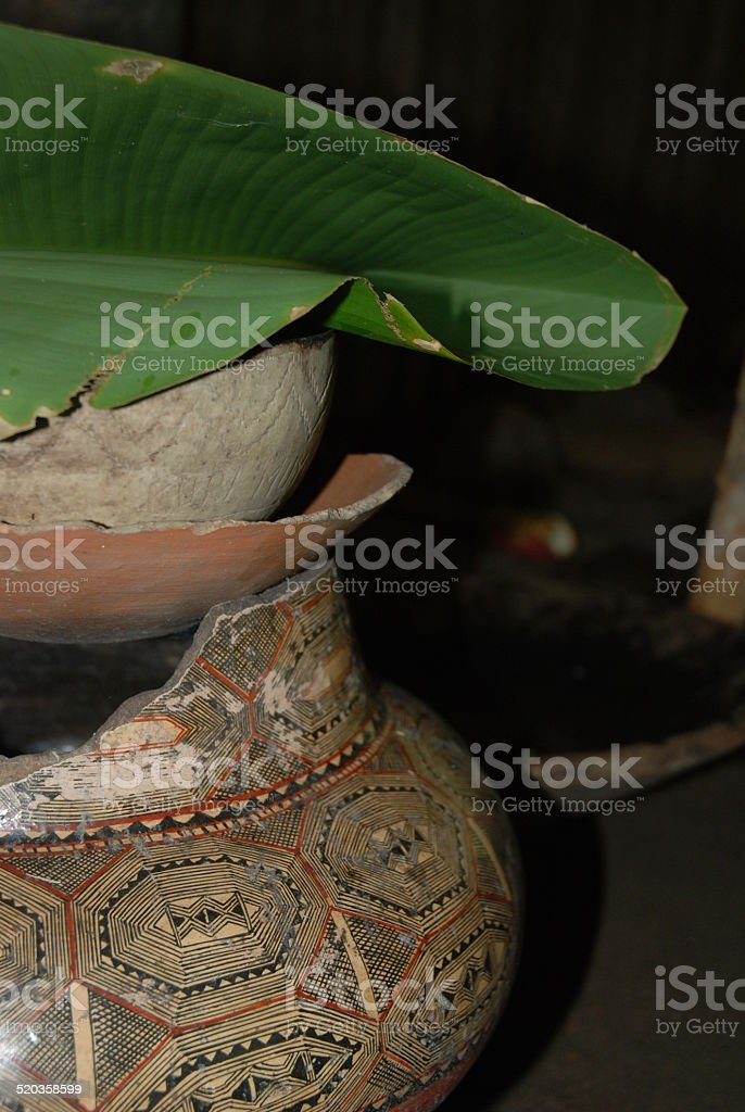 Beautiful Pottery used in Shamanic Rituals royalty-free stock photo