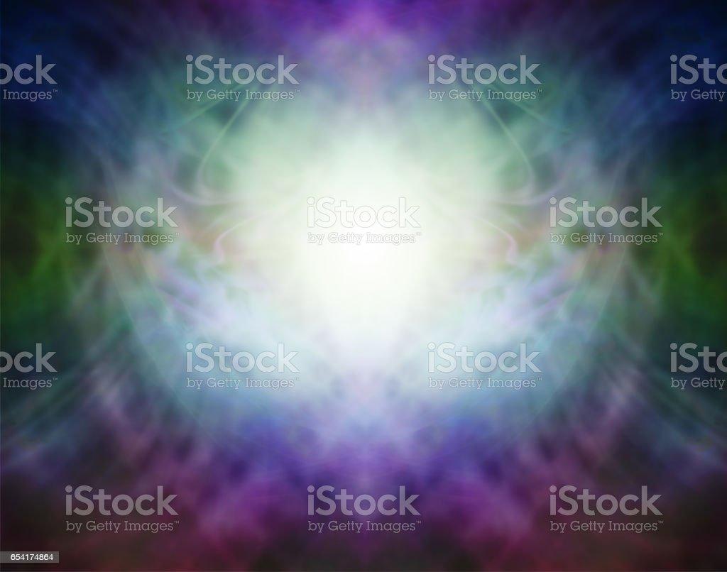 Beautiful Pranic Spiritual Energy Formation Background stock photo