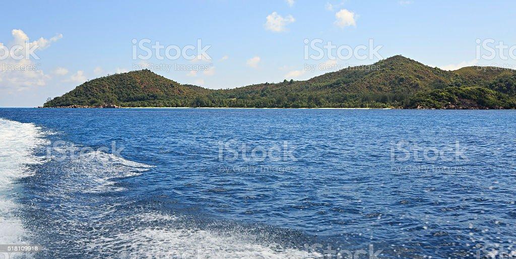 Beautiful Praslin Island in Indian Ocean stock photo