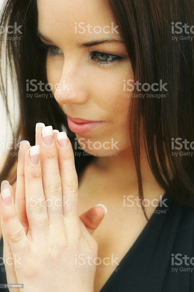 Beautiful Prayer royalty-free stock photo