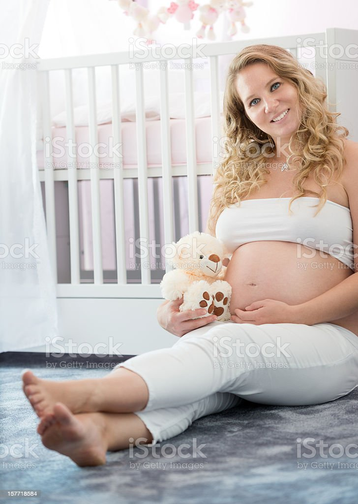 Beautiful Pregnant Woman expecting her Baby (XXXL) stock photo
