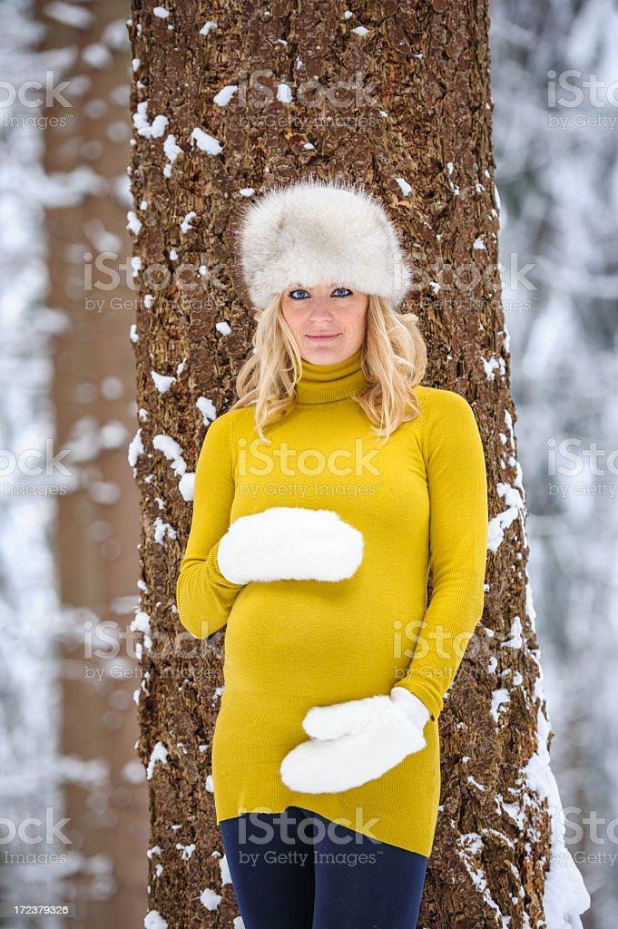 Beautiful pregnant woman royalty-free stock photo