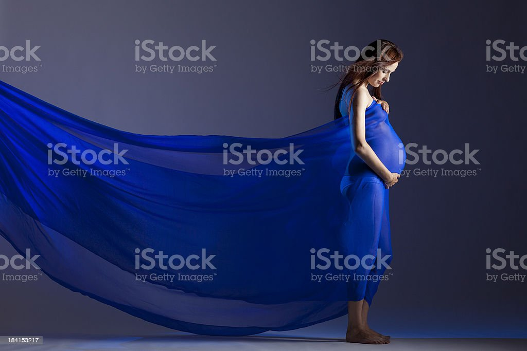 Beautiful pregnant woman royalty-free stock photo