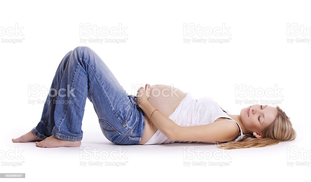 Beautiful pregnant woman resting royalty-free stock photo